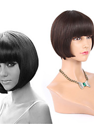 Rihanna Human Hair Short Cut None Bob Lace Wigs With Bangs Front Lace Wigs Glueless Full Lace Wigs