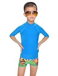 Enfant Combinaison de plongée Résistant aux ultraviolets Chinlon Tenue de plongée Manches courtesTee-shirts anti-UV, tops thermiques