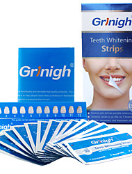 Grinigh® Teeth whitening Strips Includes NATURAL Ingredients and ZERO Peroxide for a White Smile - 14 Treatment