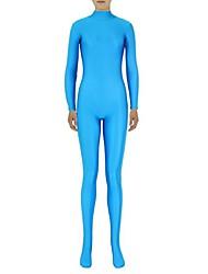 Zentai Suits Ninja Zentai Cosplay Costumes Sky Blue Solid Leotard/Onesie / Zentai Lycra / Spandex Unisex Halloween / Christmas
