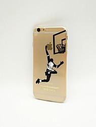 Für iPhone 6 Hülle / iPhone 6 Plus Hülle Transparent / Muster Hülle Rückseitenabdeckung Hülle Spaß mit dem Apple Logo Weich TPUiPhone 6s