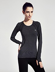 Women Sports Spring Long Sleeve Tshirt Fitness Running Yoga Top Clothing Quick Dry Gym Sportswear