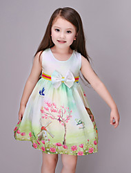 Girl's Green Dress Rayon Summer