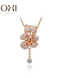 ROXI Gold Bear Zircon Pendant Necklace Jewelry