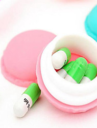6 PCS New Arrival Cute Macaroon Cookie Shape Candy Color Mini Storage Box Jewelry Box Random Color