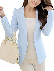 Women's Solid OL Style Slim Fashion All Match Blazer,Simple / Street chic Shirt Collar Long Sleeve