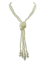 Necklace Strands Necklaces / Pearl Necklace Jewelry Party / Daily Pearl / Imitation Pearl White 1pc Gift