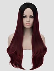 chaud cosplay multicolores style perruques droites de qualité supérieure synthétique