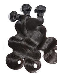 3pcs / lot malaisie cheveux vierges vague de corps 100% cheveux humains cheveux humains non transformés tisse