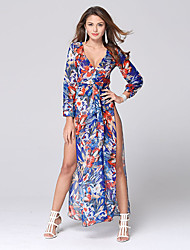 Women's Sexy Beach Casual Party Split Maxi Dress
