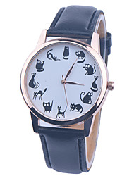 Lovely Cartoon Watch Cat Leather Watch Womens Watch Ladies Watch Mens Watch Unisex Watch Cool Watches Unique Watches Fashion Watch