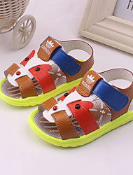 Boy's Sandals Spring / Summer Slingback / Open Toe Leather Outdoor / Casual / Athletic Blue / Brown