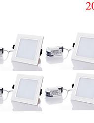 20W LED Encastrées 40pcs SMD 5730 1800-2000 lm Blanc Chaud / Blanc Froid / Blanc Naturel Gradable / Décorative AC 85-265 V 4 pièces
