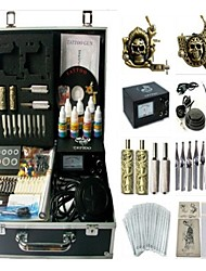 Basekey Tattoo Kit 2 Machines JHK0122 Machine With Power Supply Grips Cleaning Brush Ink Needles