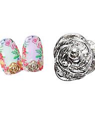 belle roses miniatures mentales ongles bijoux (5pcs)