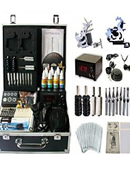 Basekey Tattoo Kit 2 s JHK062 Machine With Power Supply Grips Cleaning Brush Ink Needles