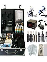 kit 2 s máquina jhk062 tatuagem basekey com apertos de fornecimento de energia de limpeza agulhas de tinta escova
