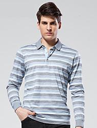 Seven Brand® Men's Shirt Collar Long Sleeve T Shirt Blue-E99T530183