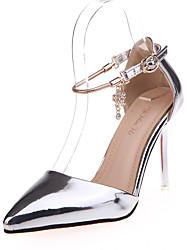 Scarpe Donna-Scarpe col tacco-Tempo libero / Ufficio e lavoro / Casual-Tacchi / A punta-A stiletto-Finta pelle-Rosa / Argento / Dorato
