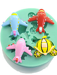 Plane  Shaped Silicone Fondant Cake Cake Chocolate Silicone Molds,Decoration Tools Bakeware