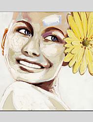 pinturas al óleo de la lona material de imágenes de estilo con marco se extendía listo para colgar tamaño de 70 * 70 cm.