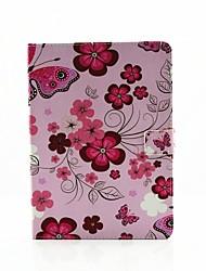 flores personalidade pintado pu couro flip-shell coldre para AIR3 iPad / iPad Mini Pro