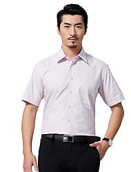Sieben Brand® Herren Hemdkragen Kurze Ärmel Shirt & Bluse Rosa-704A3C8818