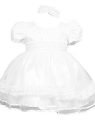 Girl's White Dress Cotton Summer