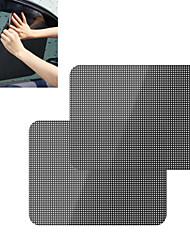 ZIQIAO 2Pcs/Lot Car Sunshade Covers Black Sticker Car Static Sunshade Sticker Static Sunshade Sticker