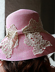 Mujer Sombrero para el sol Bonito / Fiesta / Casual-Primavera / Verano / Otoño-Encaje / Paja