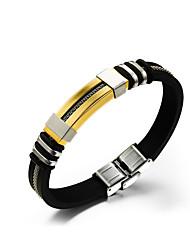 Муж. Кожаные браслеты Уникальный дизайн Мода Классика бижутерия Нержавеющая сталь Кожа Бижутерия Бижутерия Назначение Повседневные Спорт