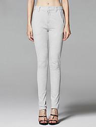 ZigZag® Women's Mid Rise Slim Gray Casual Pants - 11041