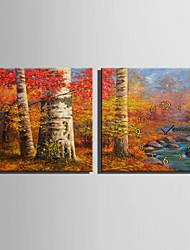 Carré Moderne/Contemporain Horloge murale,Autres Toile40 x 40cm(16inchx16inch)x2pcs/ 50 x 50cm(20inchx20inch)x2pcs/ 60 x