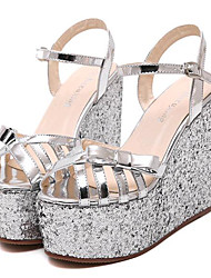 Women's Shoes Leatherette Platform Creepers Sandals Outdoor / Casual Silver / Gold