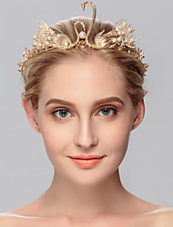 Women's Pearl Headpiece-Wedding Special Occasion Casual Office & Career Outdoor Tiaras 1 Piece