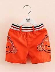 Big Face Monkey Short Pants Kids Boys Unisex Children's Summer Casual Pants Carton Mouse Print Shorts