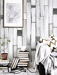 HaokHome® Vintage Woods Panel Wallpaper Rolls Black White Vinyl Drawing Tree Plank Wall Paper Realistic Home Decoration