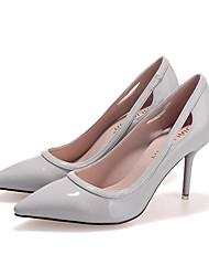 Women's Shoes Fleece Stiletto Heel Heels Heels Casual Black / Pink / Gray / Multi-color