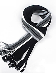 The Latest Men's Striped Scarf Long Korean Spell Color Knit Warm Scarves