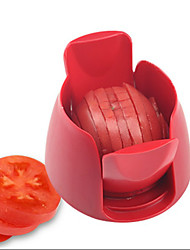 New Novelty Kitchen Tools Stainless Steel Manual Tomato Slicer Fruit Vegetables Cutter Chipper