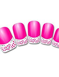 Abstract Pink francês 3d adesivos de unhas