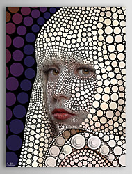 People Digital CirclismCircle Lady Gaga by Ben Heine Canvas Print From Ready to Hang 7 Wall Arts®