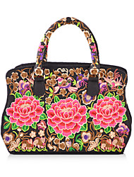 Women Canvas Bowling Shoulder Bag / Tote-Multi-color