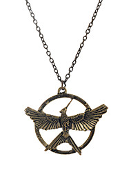 Europen Style Bronze Alloy Flying Bird Pendant Necklace