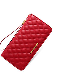 NAWO Women Cowhide Clutch Red-N254041