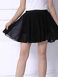 De las mujeres Faldas-Mini Chic de Calle Microelástico-Algodón / Nailon