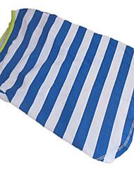 Chien T-shirt Bleu Eté Rayure Zébré