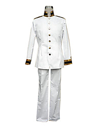 Inspired by Hetalia Japan Honda Kiku Anime Cosplay Costumes Cosplay Suits Solid White Long Sleeve Coat / Pants