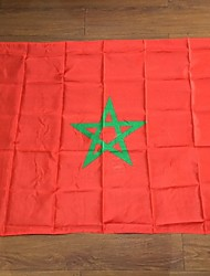 The Morocco Flag Polyester Flag 5*3 Ft 150*90 Cm High Quality Cheap Price In-Kind Shooting(Without flagpole)