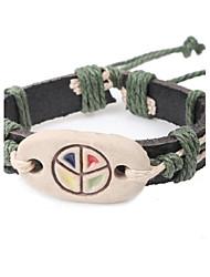 Men's Fashion Leather Ceramic Bracelet
